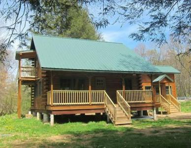New Log Cabin On Two Picturesque Trout Streams - Titusville, PA Vacation Rental Pennsylvania Wilds R
